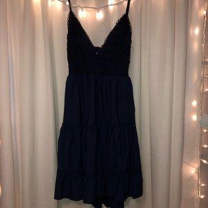 navy blue homecoming dress